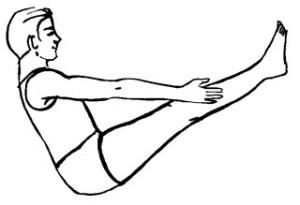 navasana boat yoga